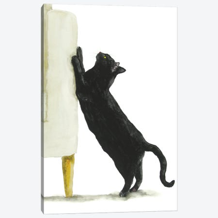 Bad Black Cat Canvas Print #AXS37} by Alexey Dmitrievich Shmyrov Canvas Artwork