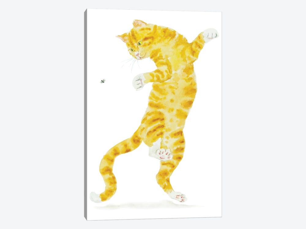 Orange Cat And Fly by Alexey Dmitrievich Shmyrov 1-piece Canvas Art