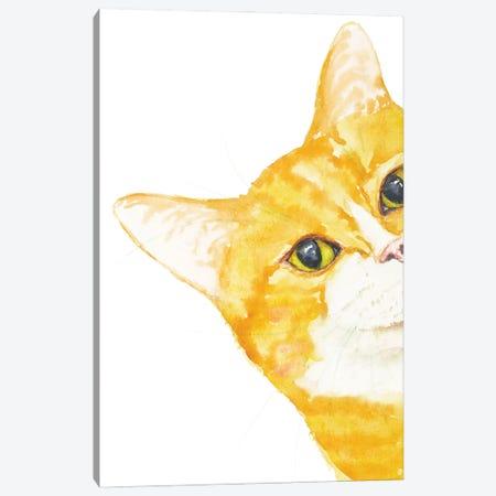 Peeking Orange Cat Canvas Print #AXS51} by Alexey Dmitrievich Shmyrov Canvas Art Print