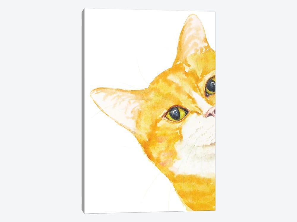 Peeking Orange Cat by Alexey Dmitrievich Shmyrov 1-piece Canvas Wall Art
