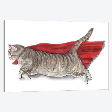 Superhero Cat Canvas Print #AXS63} by Alexey Dmitrievich Shmyrov Canvas Artwork