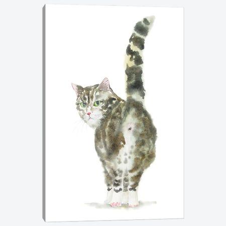 Tabby Cat Butt Canvas Print #AXS73} by Alexey Dmitrievich Shmyrov Canvas Art Print