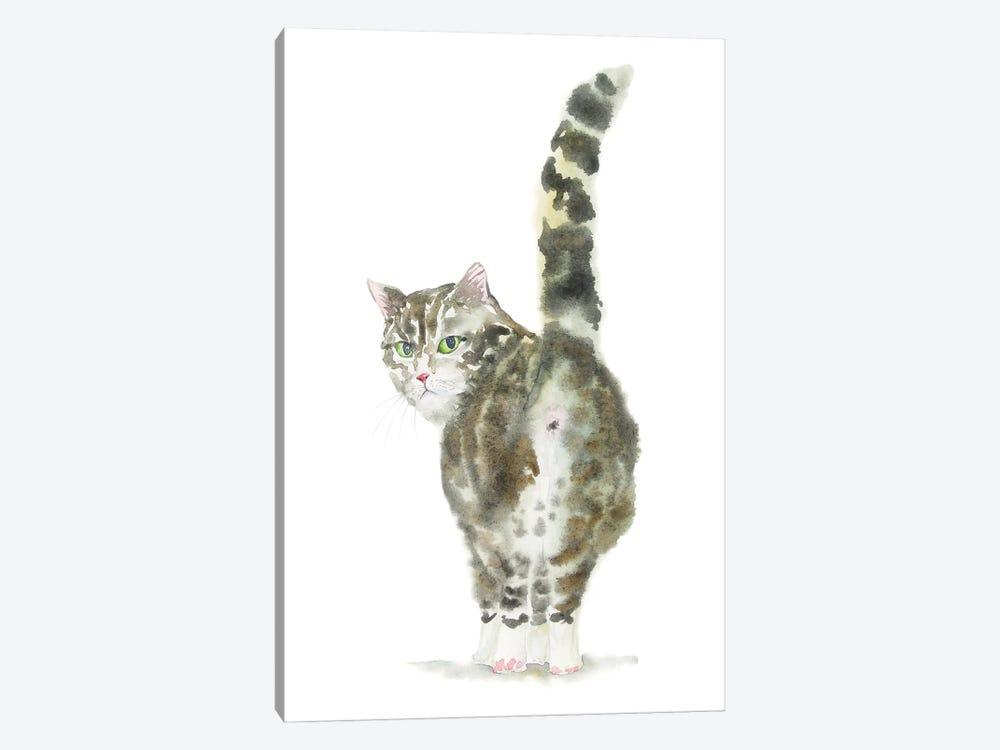 Tabby Cat Butt by Alexey Dmitrievich Shmyrov 1-piece Canvas Art