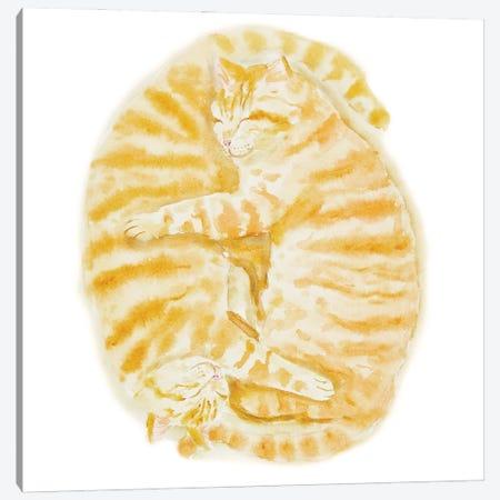 Two Sleeping Orange Tabby Cats Canvas Print #AXS85} by Alexey Dmitrievich Shmyrov Art Print