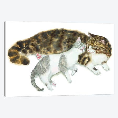 Cat Couple II Canvas Print #AXS92} by Alexey Dmitrievich Shmyrov Canvas Print