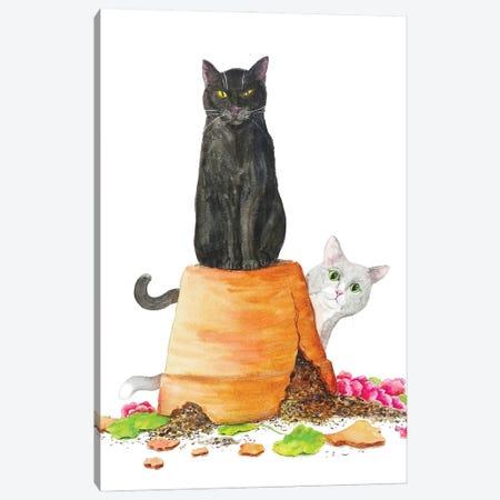 Naughty Cats Canvas Print #AXS93} by Alexey Dmitrievich Shmyrov Canvas Art Print