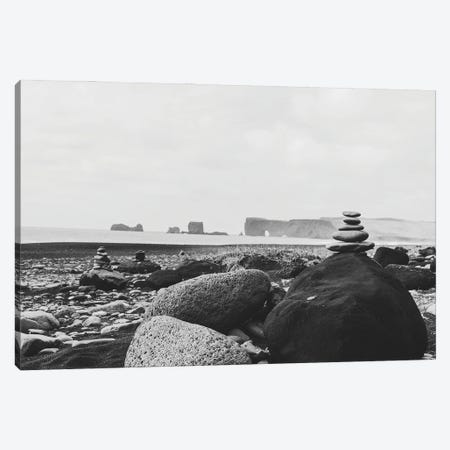 Black Sand Beach Canvas Print #AXT14} by Alex Tonetti Art Print