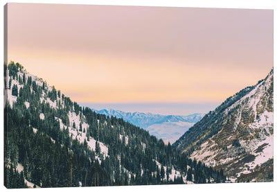 Sunset Through The Valley Canvas Art Print