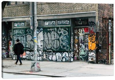 Walking Down The Street Canvas Art Print