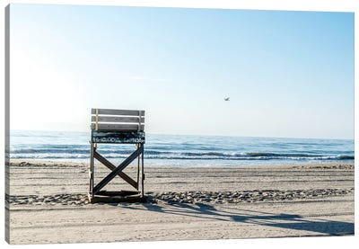 While The Lifeguards Away Canvas Art Print