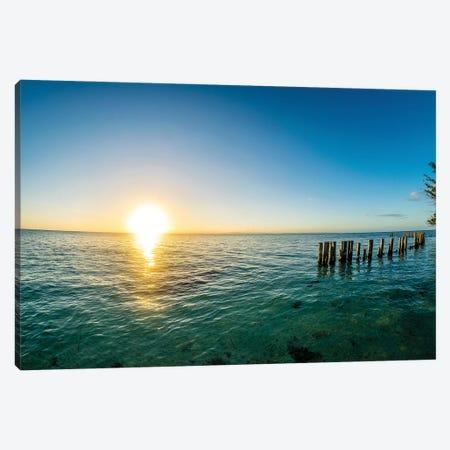 Belize Sunset Canvas Print #AXT228} by Alex Tonetti Canvas Art Print
