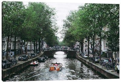 Canal Cruise Canvas Art Print