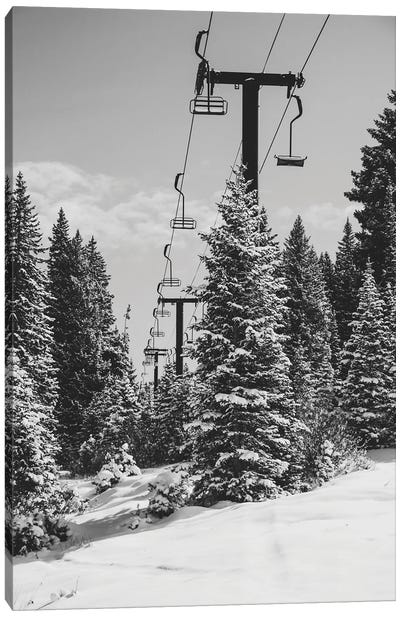 Chairlift To The Top Canvas Art Print
