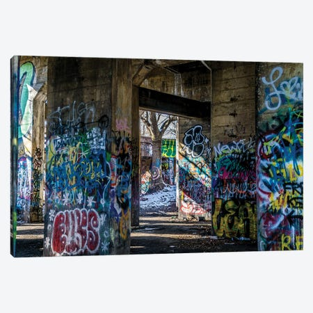 Graffiti Playground Canvas Print #AXT73} by Alex Tonetti Canvas Art
