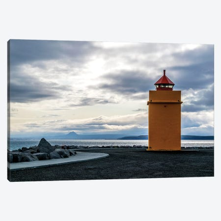 Lighthouse At The Point Canvas Print #AXT99} by Alex Tonetti Canvas Artwork