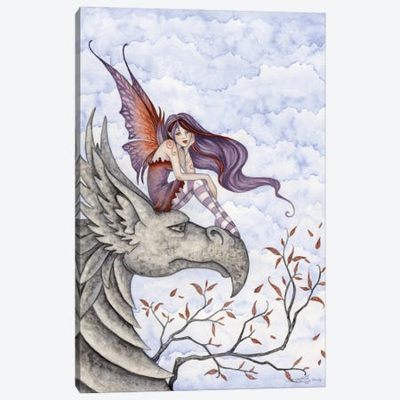 Gryphons Perch Canvas Print #AYB11} by Amy Brown Canvas Art Print