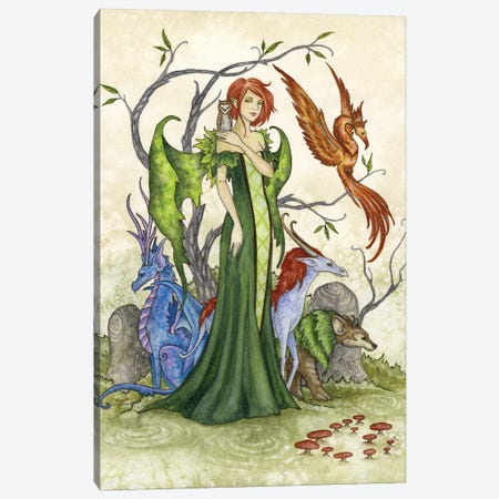Menagerie Canvas Print #AYB16} by Amy Brown Canvas Artwork