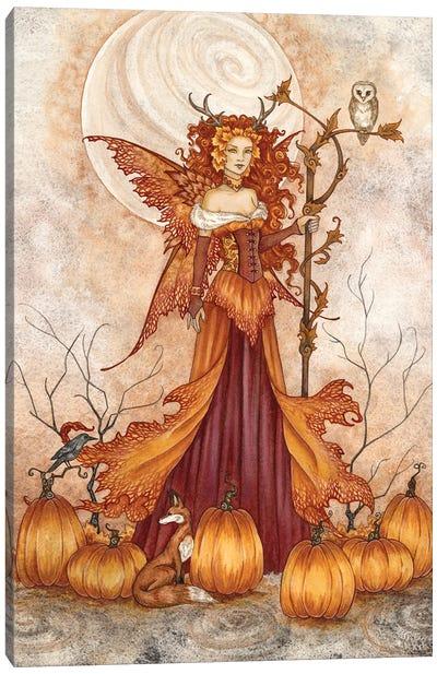 Pumpkin Queen Canvas Art Print