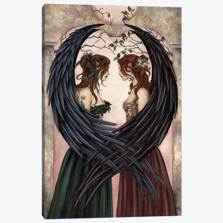 Sisters Canvas Print #AYB21} by Amy Brown Canvas Artwork
