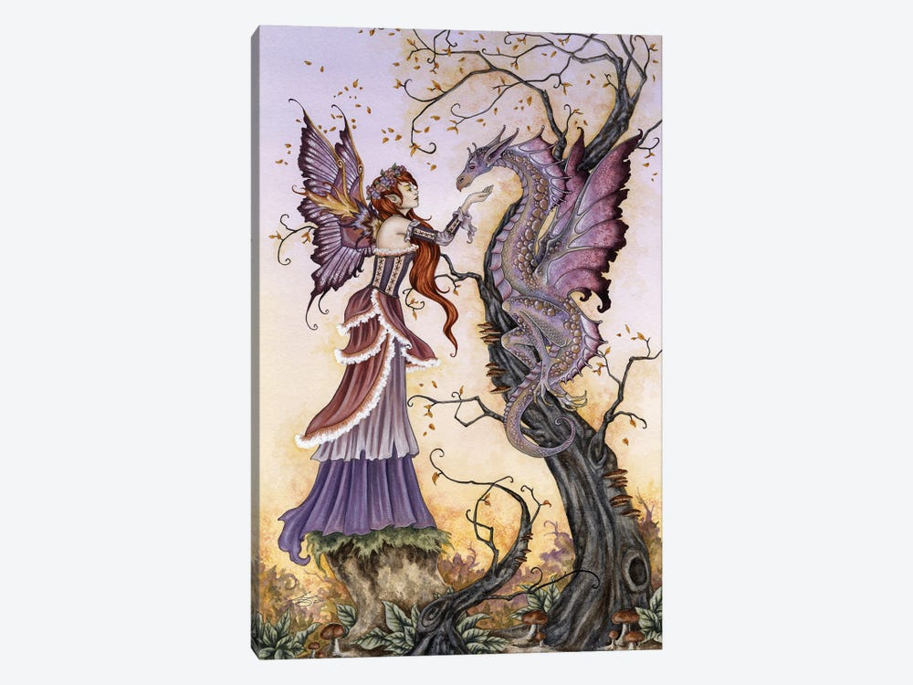 The Dragon Charmer by Amy Brown 1-piece Canvas Wall Art