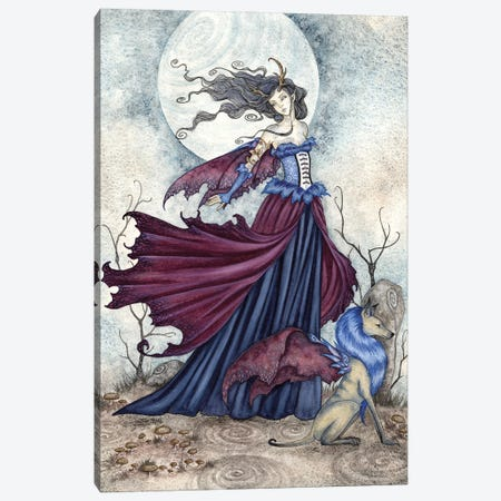 The Moon Is Calling Canvas Print #AYB24} by Amy Brown Canvas Art Print