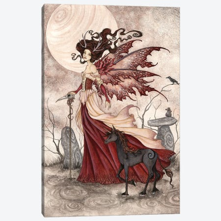 The Red Queen Canvas Print #AYB25} by Amy Brown Canvas Art Print