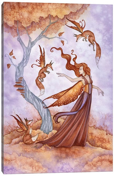 Autumn Companions Canvas Art Print
