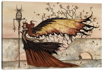 Autumn Stroll Canvas Art Print