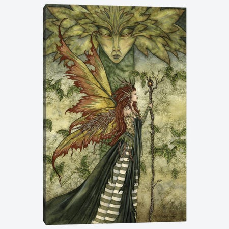 The Greenwoman Canvas Print #AYB45} by Amy Brown Canvas Print