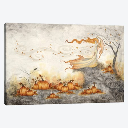 Whispers In The Pumpkin Patch Canvas Print #AYB50} by Amy Brown Canvas Art Print