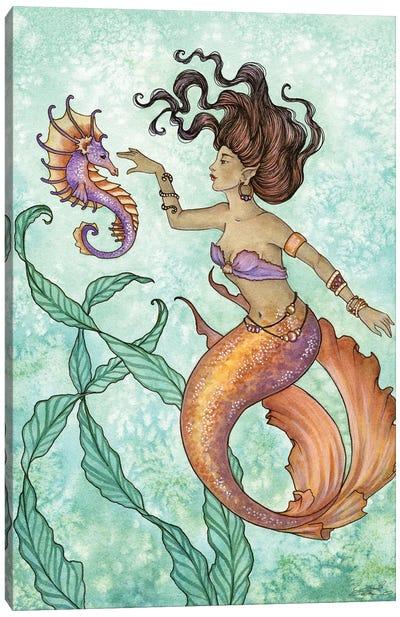 Shy Seahorse Canvas Art Print