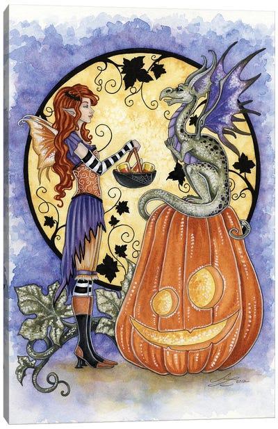 Dragon Love Candycorn Canvas Art Print