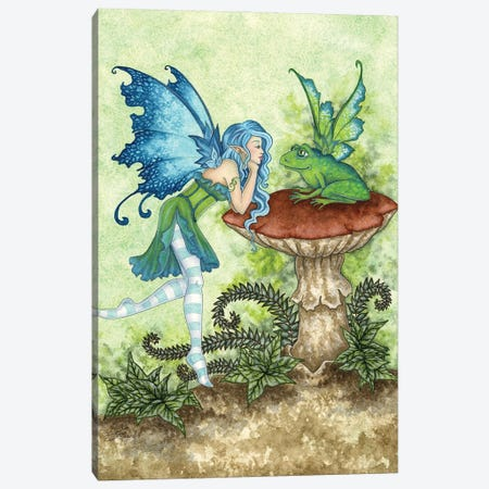 Frog Gossip Canvas Print #AYB7} by Amy Brown Canvas Wall Art