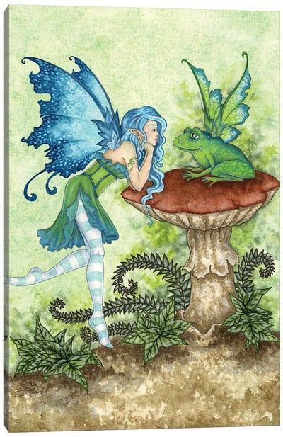Frog Gossip Canvas Art Print