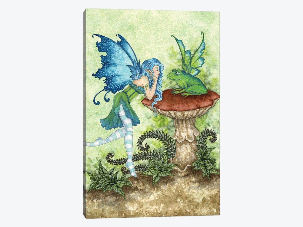 Frog Gossip by Amy Brown 1-piece Canvas Print