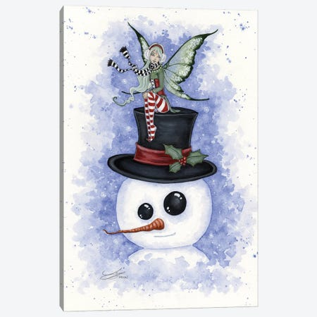 Frosty Friends Canvas Print #AYB8} by Amy Brown Canvas Print