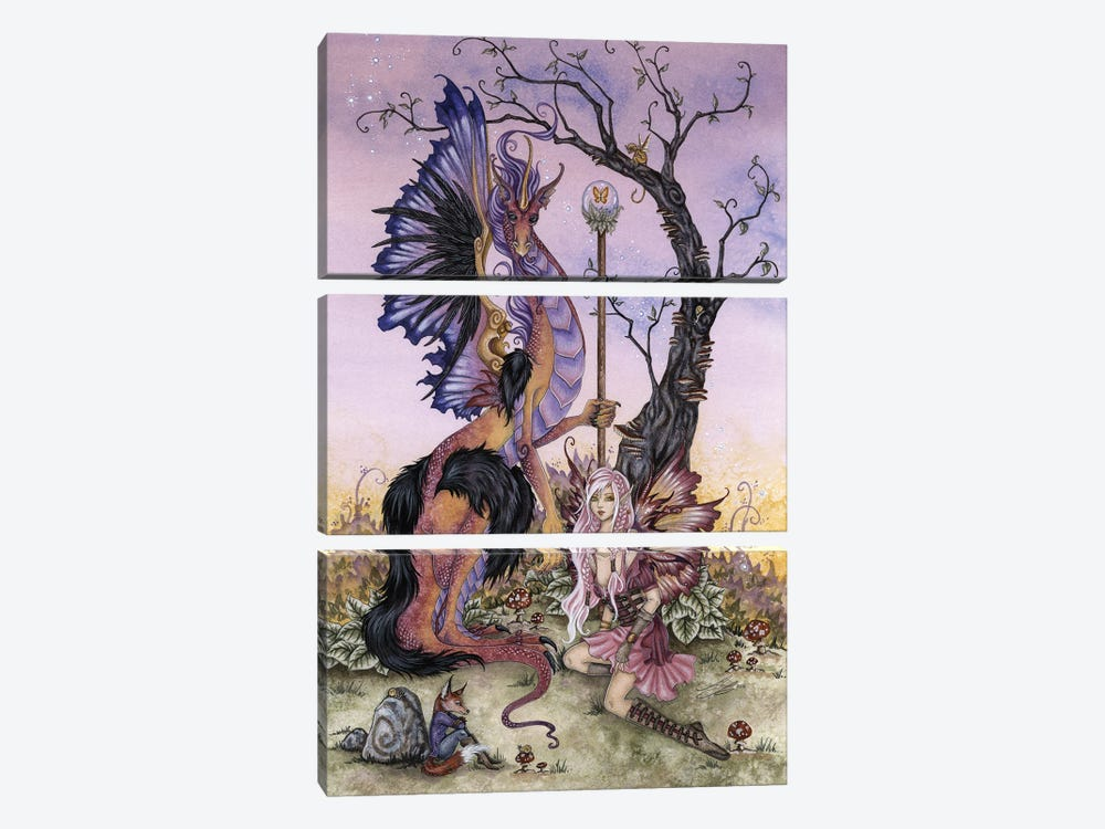 Gathering At Dawn by Amy Brown 3-piece Art Print