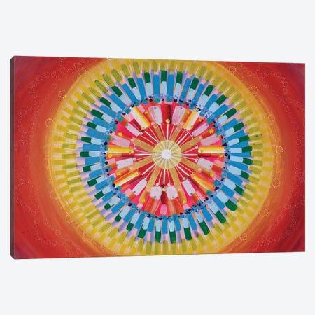 Mandala Energy Canvas Print #AYD16} by Amy Diener Canvas Wall Art