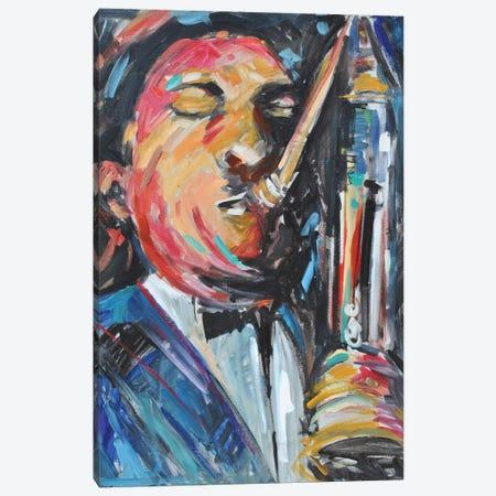 Sax Man 3-Piece Canvas #AYN102} by Allayn Stevens Art Print