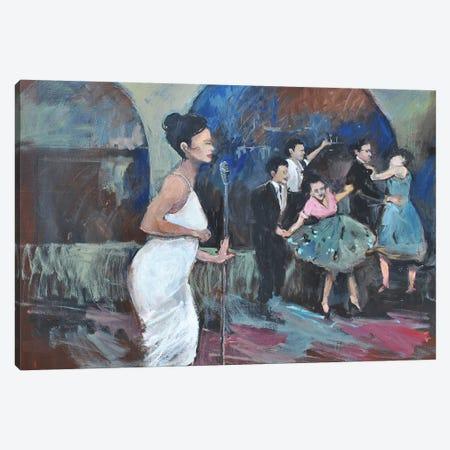 Sining The Blues Canvas Print #AYN104} by Allayn Stevens Canvas Wall Art