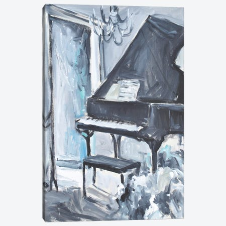 Piano Blues I Canvas Print #AYN112} by Allayn Stevens Canvas Wall Art