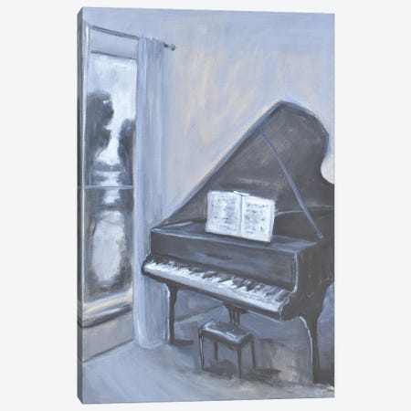 Piano Blues IV Canvas Print #AYN113} by Allayn Stevens Canvas Artwork
