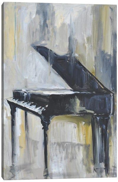 Piano in Gold I Canvas Art Print