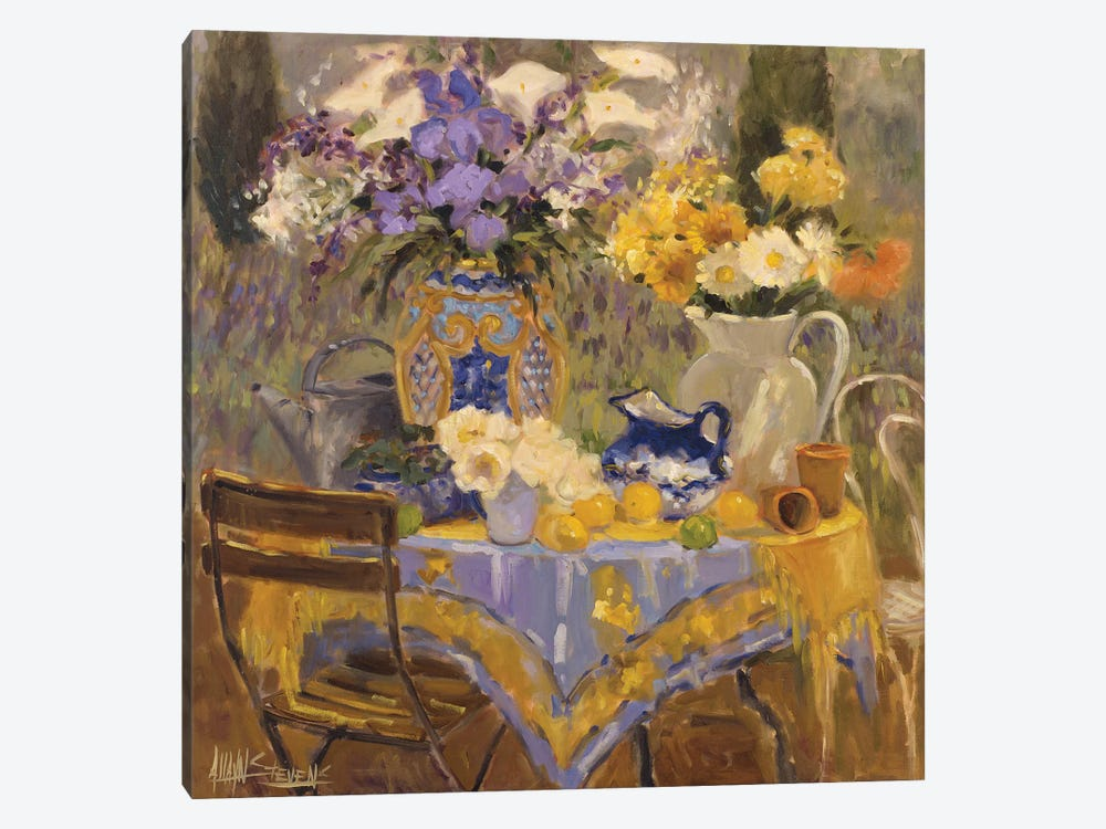 Garden Table by Allayn Stevens 1-piece Canvas Art Print