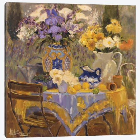 Garden Table Canvas Print #AYN12} by Allayn Stevens Canvas Print