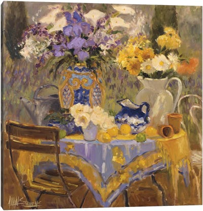 Garden Table Canvas Art Print