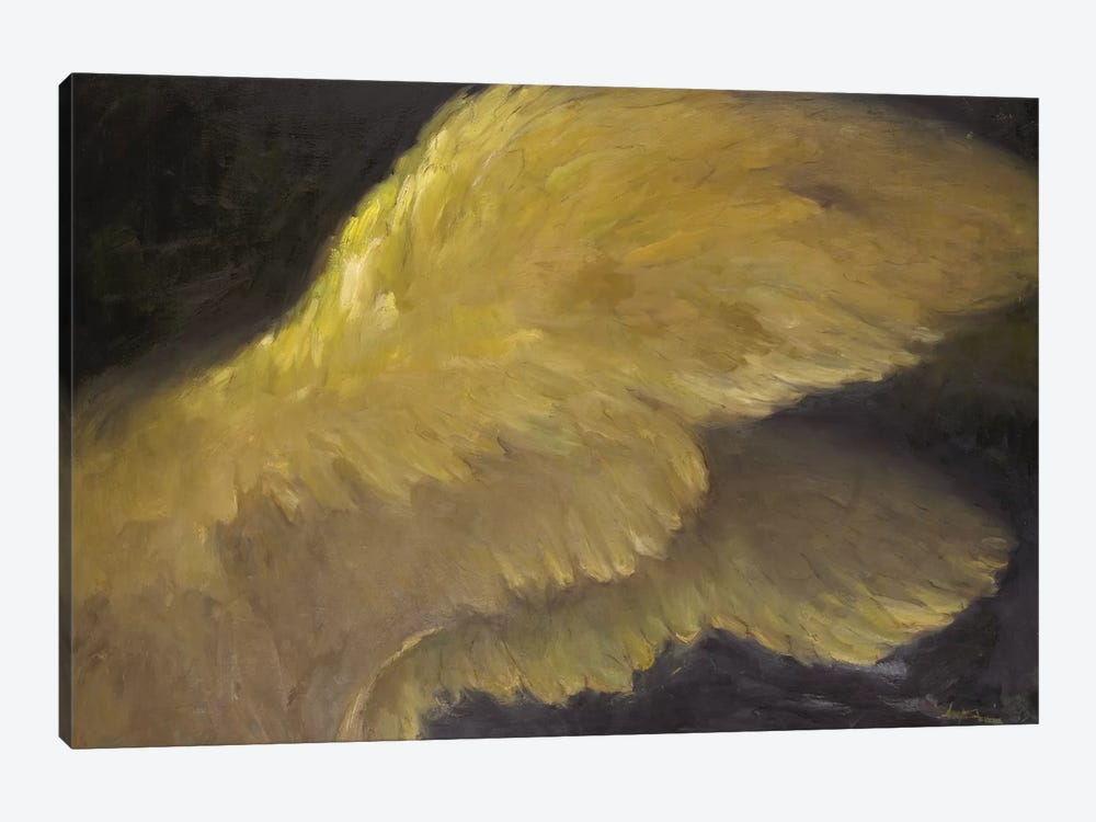 Golden Wings I by Allayn Stevens 1-piece Canvas Wall Art