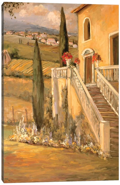 Italian Villa II Canvas Art Print