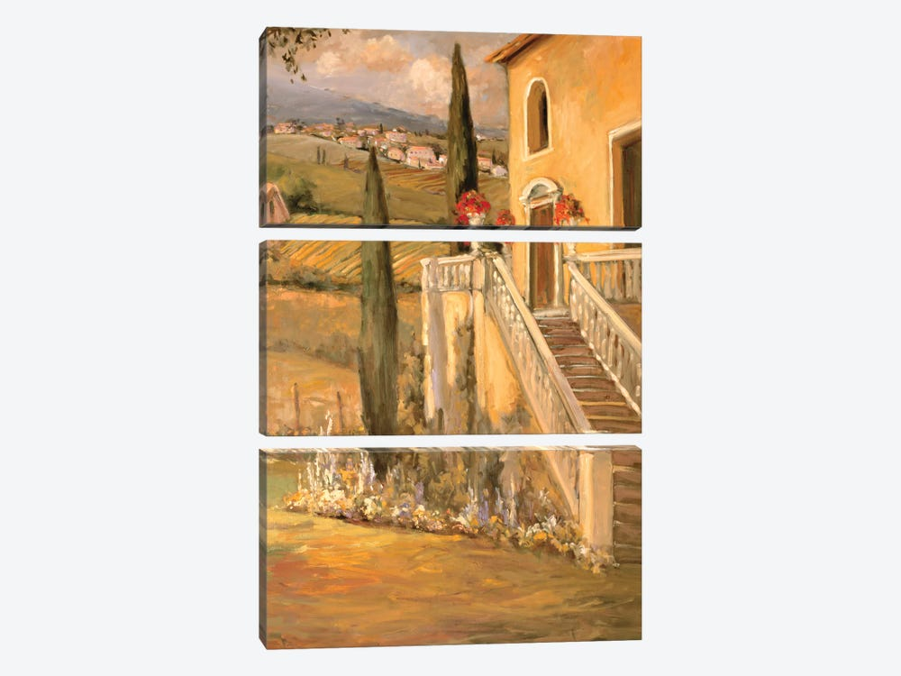 Italian Villa II by Allayn Stevens 3-piece Canvas Wall Art