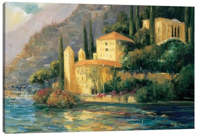 Lake Villa Canvas Art Print